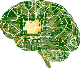 brain depicted as computer chip